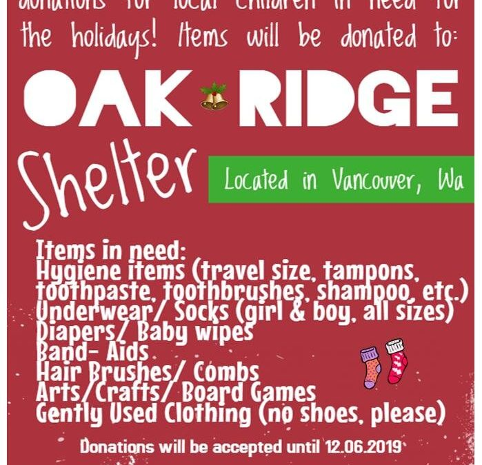Holiday Children's Shelter Donations