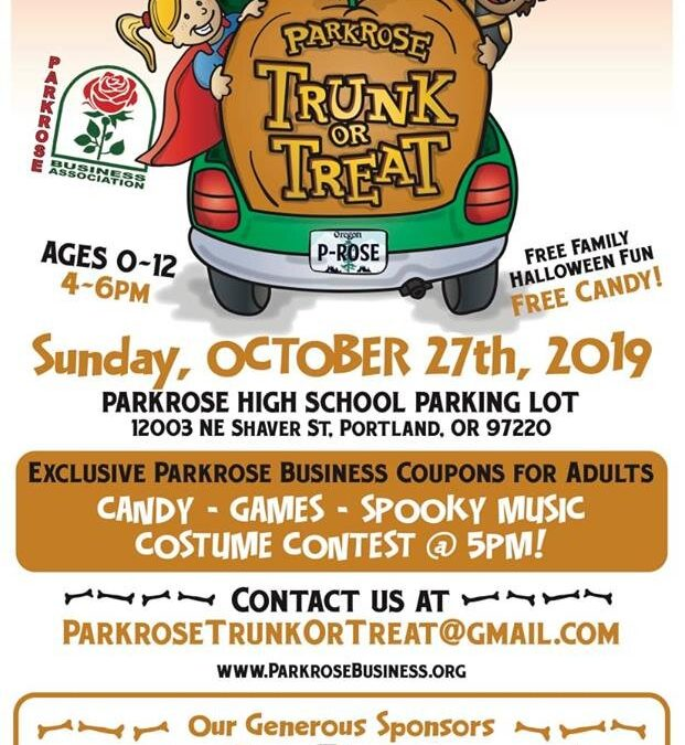 Trunk or Treat, October 27th, 2019: Parkrose High School